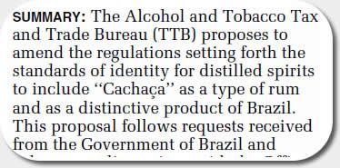 TTB Proposed Amendment
